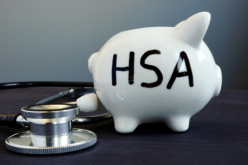 piggy bank with HSA written on it