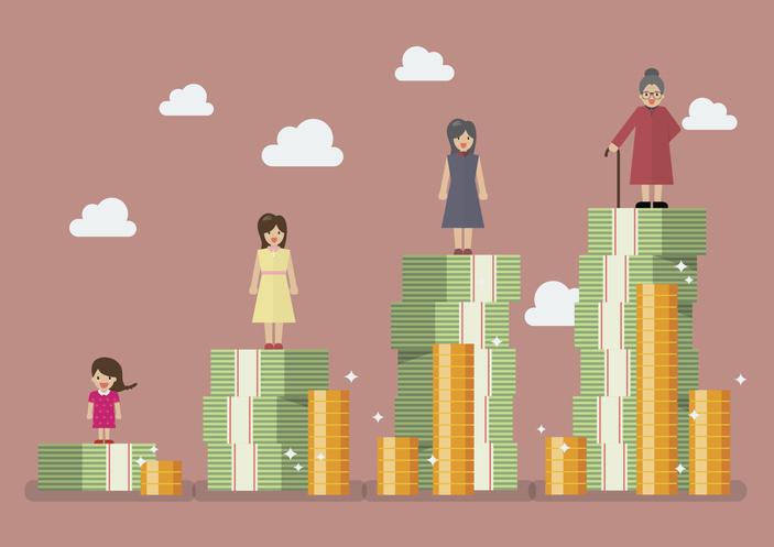people standing on money