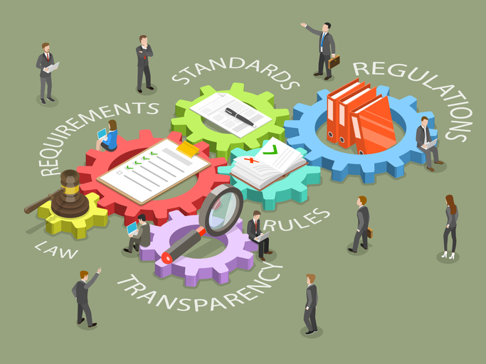 law, requirements, standards, regulations, rules, transparency