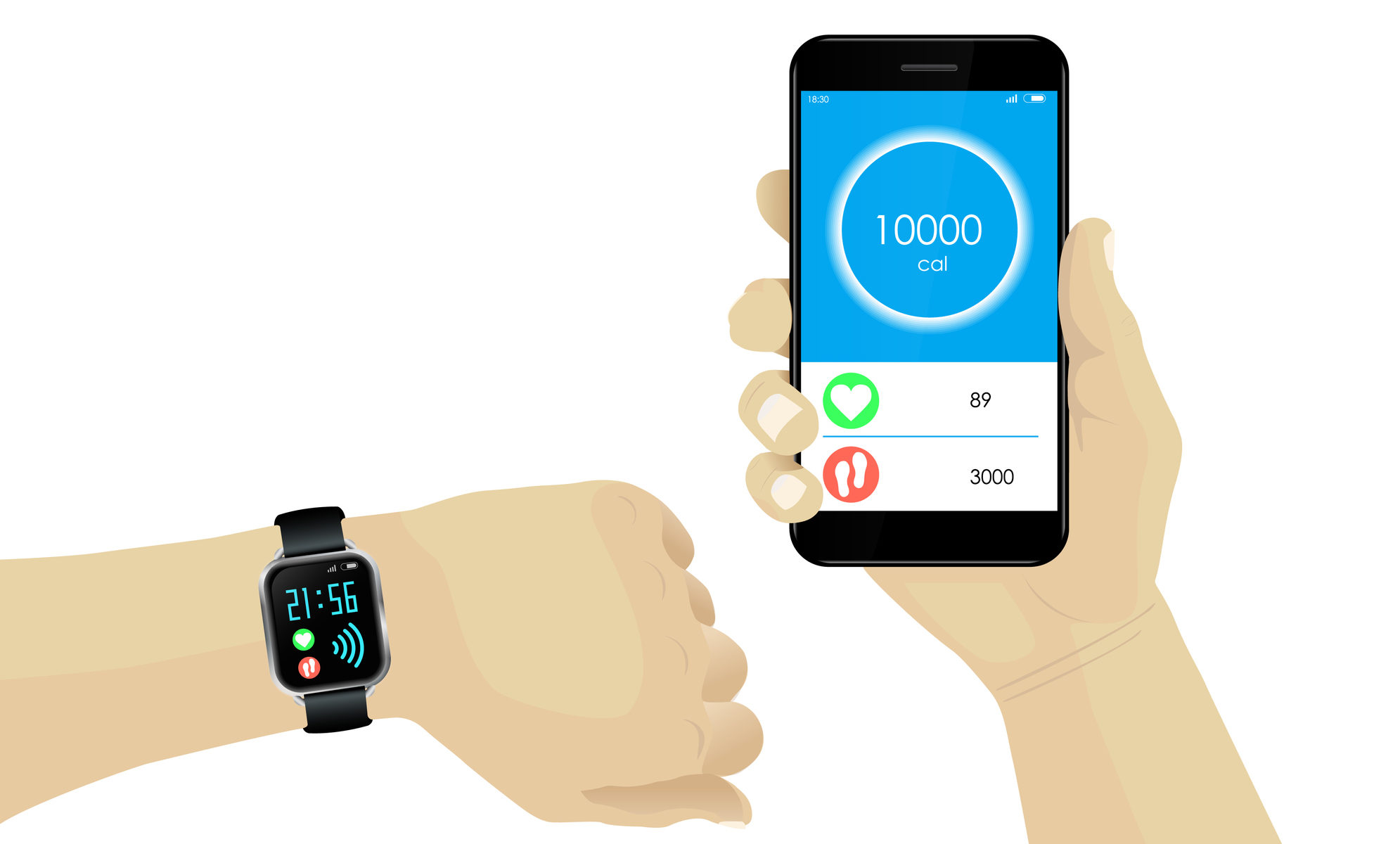 tracking fitness on phone