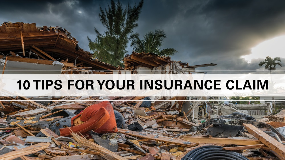 10 tips for your insurance claim